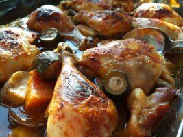 עוף עם ירקות בתנור שחר סמיט תזונה טבעית