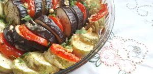 מאפה קישואים, חצילים ועגבניות עם גבינות שחר סמיט תזונה בריאה